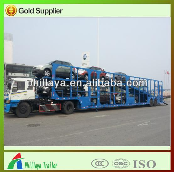 heavy duty long vehicle/car carrier truck semi trailer (skeleton/close-ended/semi-enclosed type optional)