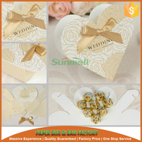 heart shape wedding candy box package
