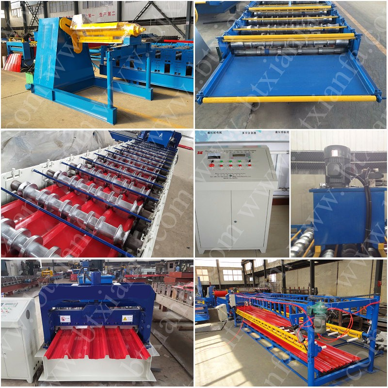 Colored Stee Roof Panel IBR Roll Forming Machine