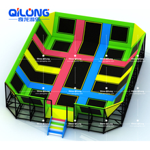 Safety commercial trampoline park equipment big cheap indoor trampoline