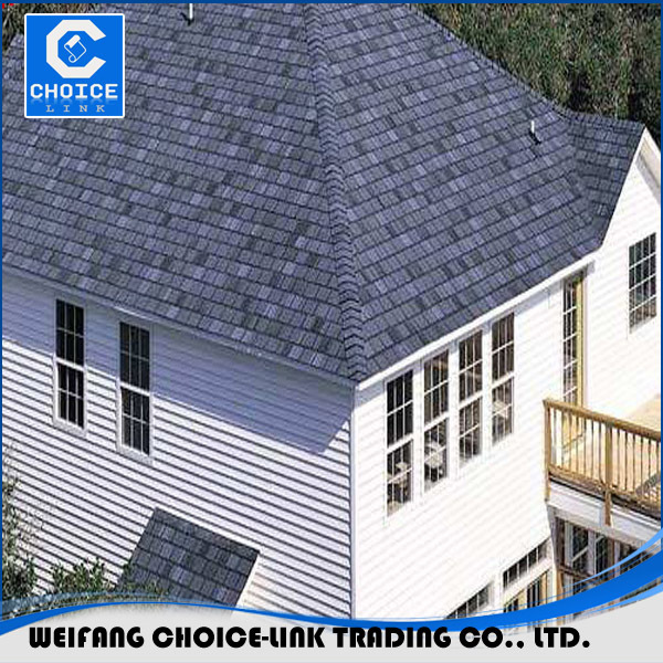 Widely used 3-tab bituminous material asphalt roofing shingles