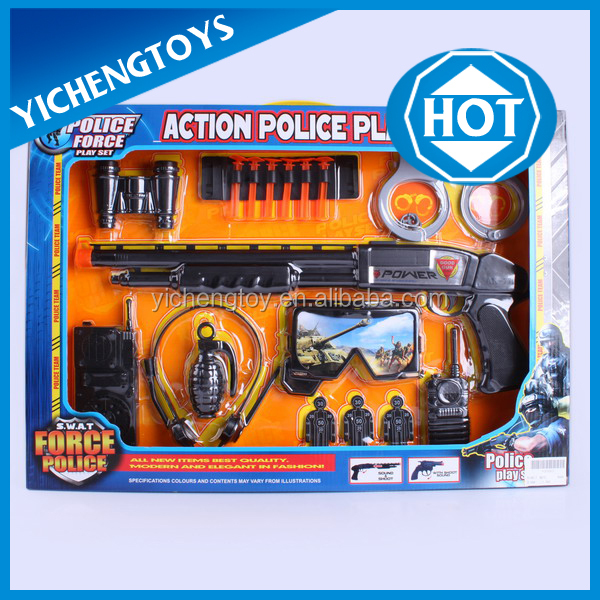 mini plastic military toys play set,toy police gun set