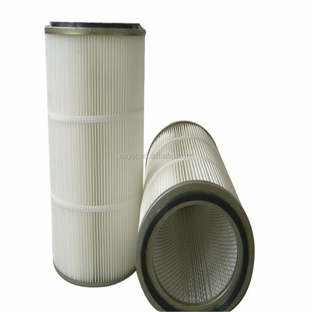 pu cap wear resistance and good flexibility polyester dedusting filter element