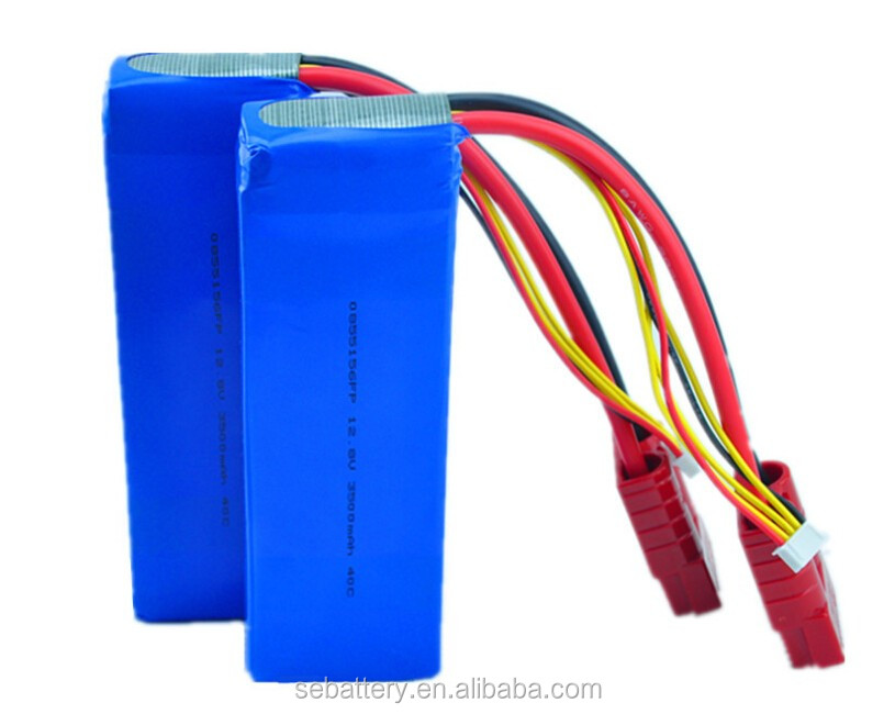 LiFePO4 battery pack 3500mAh 12.8V 4S high rate 40C RC high discharge rate battery pack