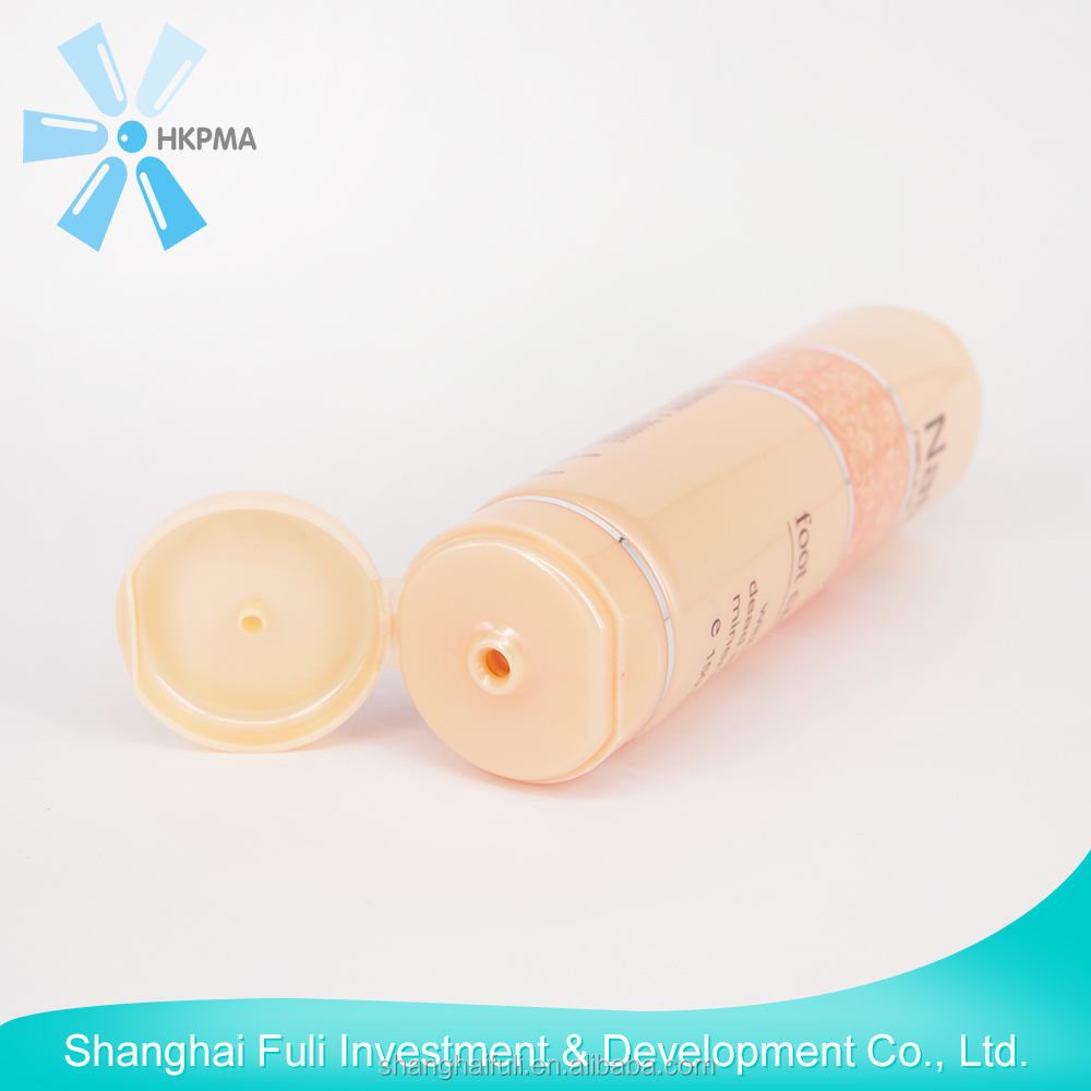 plastic drawing tube for cosmetic packaging