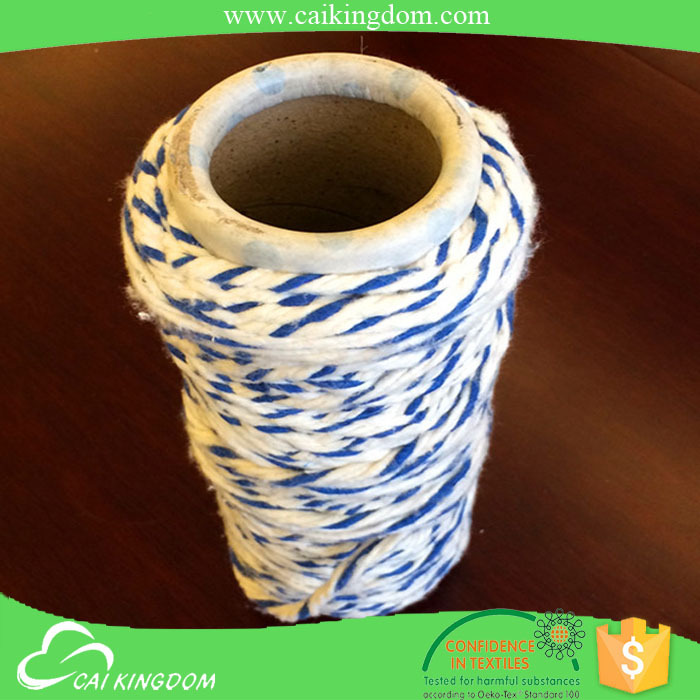 Recycled cotton polyester rope cone yarn for mop