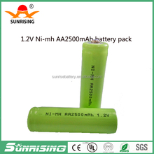 High capacity 1.2V Rechargeable Battery ni-mh aa 2500mah battery batteria