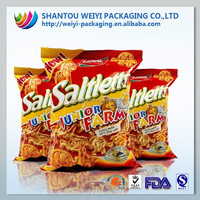 custom printed plastic potato chips packaging material krafty paper bag