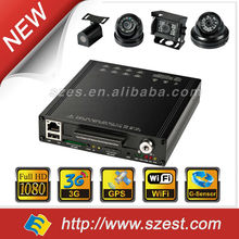 Free CMS Software 4CH/8CH SSD Mobile DVR Night Vision Audio Camera for BUS/Taxi