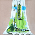 silk screen printing soft beach towels