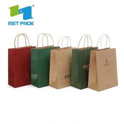 Famous Brand Stamping High Quality Paper Bag Kraft