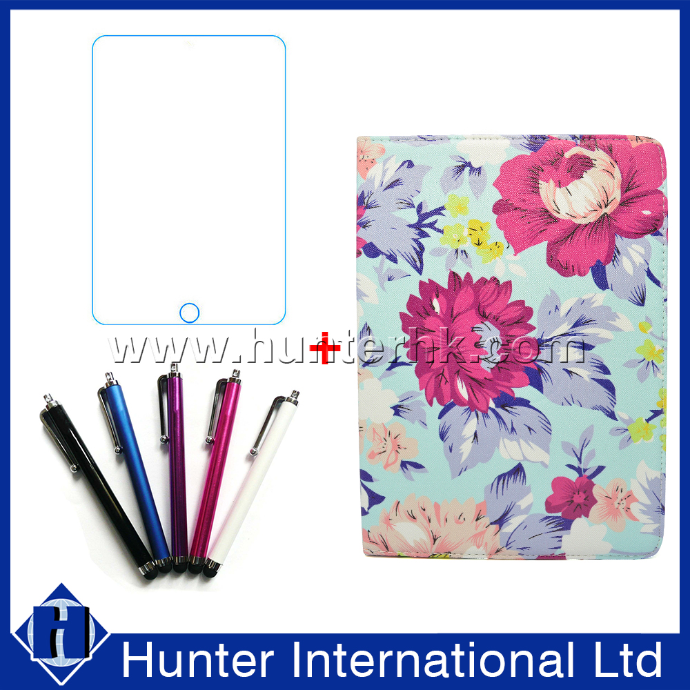 With Screen Protector Flower Pattern Tablet Case