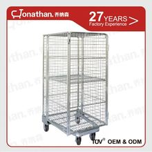 Customized collapsible zinc plated heavy duty wire mesh container