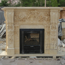 Hot Selling Indoor decorative stone marble fireplace