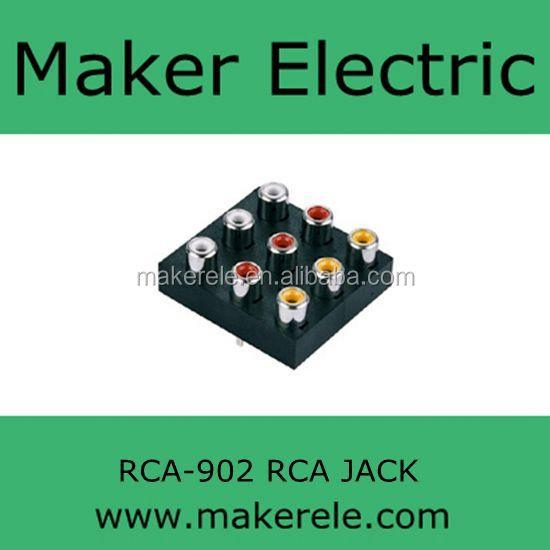9 ports audio pin jack RCA-902