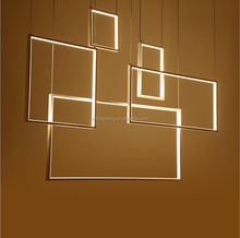 new design Acrylic Material LED square pendant lamp