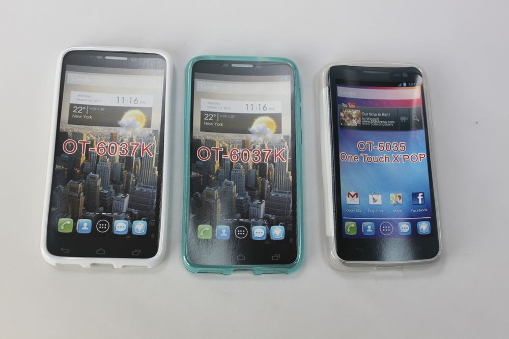 Mobile phone back cover TPU case for alcatel OT-6037k