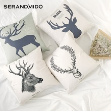 Wholesale Latest Design Animal Pillow Cover Custom Printed Linen Cushion Cover