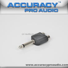 RCA To TS 6.35mm Connector Adaptor For Audio ADT002-CZ