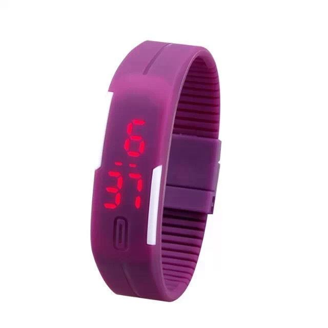 new arrival touch controls Candy Ultra Thin Men Girl Sports Silicone Digital LED Sports Bracelet Wrist Watch