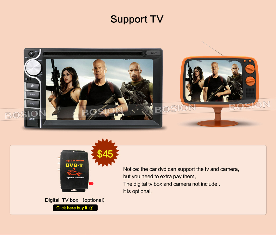 Good price car dvd player without GPS with 6.2inch touch screen