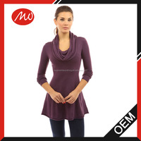 Women's latest casual designs knit winter dress