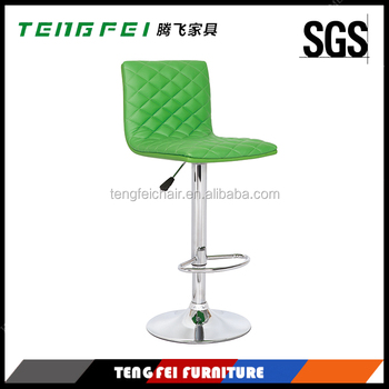 Bar stool China, Certificated SGS gas lift 360 degree swivel,385mm chroming base.