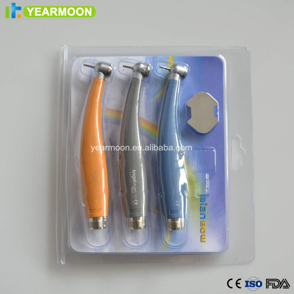 3pcs colorful dental high speed air turbine handpiece/dental instruments air rotor/free ship wholesale online