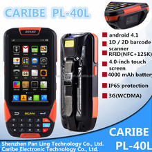 CARIBE PL-40L Ab014 intelligent 3g wifi bluetooth handheld portable mobile touch screen 1d 2d barcode scanner with keypad