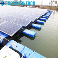 Online shopping HDPE plastic floating pontoon/floater for solar panel