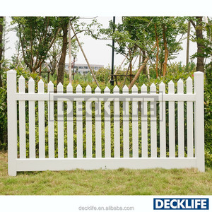 Decorative Garden Fencing PVC Scalloped Picket Fence SPP3078175-4x8