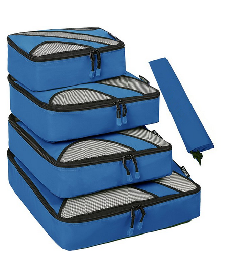 2016 4 Set Packing Cubes,Travel Luggage Packing Organizers with Laundry Bag