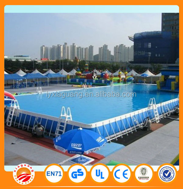 Outdoor Rectangular Metal Frame Swimming pool for sale