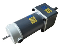 24V DC gear motor with end shaft 104mm square flange 250w 1:9 ratio output shaft 15mm dia