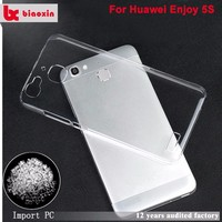 Fashion style for huawei enjoy 5s transparent mobile phone cover