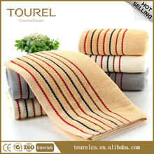 Stripe cotton embroidery logo hotel bath towel from china towel factory