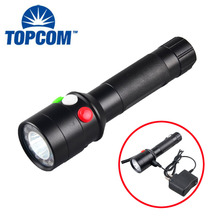 Manual Rechargeable Torch LED Green Red White Color Changing LED Signal Torch Light