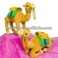 2014 hot 20H cm yellow camel plush toy&baby and children plush toy