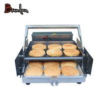 Commercial Stainless Steel Hamburger Bun Toaster