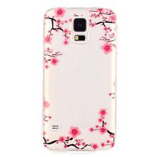 Wholesale transparent cartoon wallpaper tpu phone case for samsung galaxy s5 soft phone case
