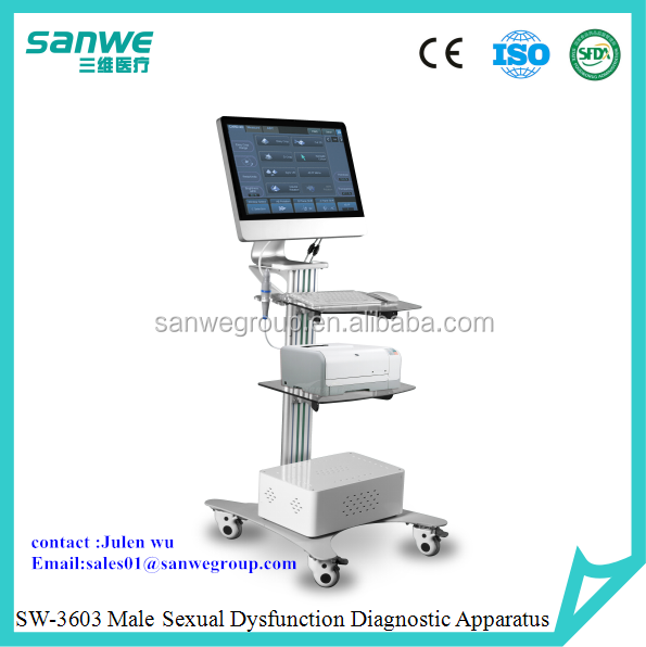 SW-3603 Male Sexual Dysfunction Diagnostic Instrument, Andrology Dopplor Blood Inspection for Male Sexual Machine, Urology