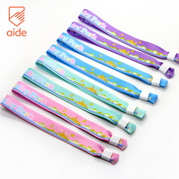 AIDE One-time Slide Lock Veld Festival Knitted Wristband Custom Polyester Fabric