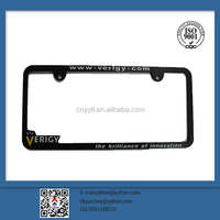 Hot promotional product zinc alloy chrome license plate frame