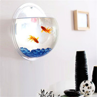 Customized acrylic material wall mounted aquarium, aquarium wall decorations