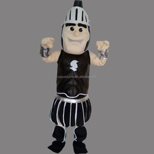 Knight Warrior Black Mascot Costume Fancy Party Dress Halloween Outfit High Quality