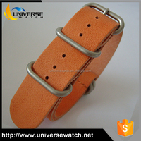 Customized size changeable quality leather zulu watch band
