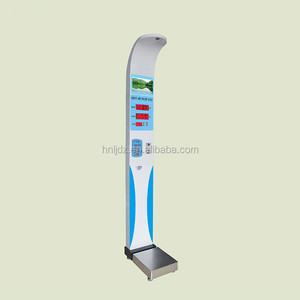 HW-900 electronic bmi balance scale digital height and weight machine with printer