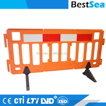 Plastic barricade custom, street construction safety barriers