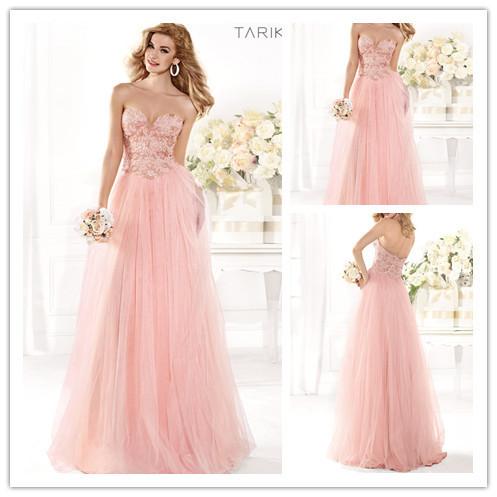 Buy Custom Beautiful Light Pink Sweetheart Long Formal Dresses