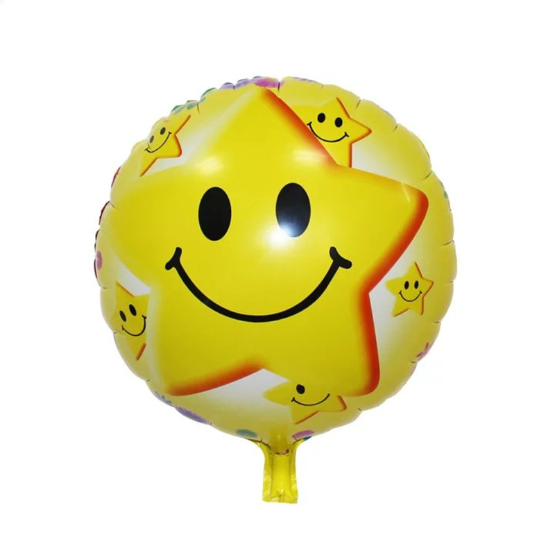 18inch Clown Smile Face Foil Balloon Multicolor for Birthday Party and Baby Shower Helium Balloon